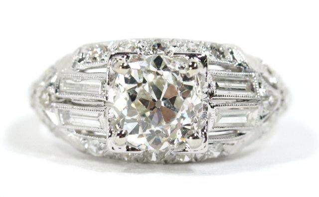 15: A Platinum and Diamond Ring,