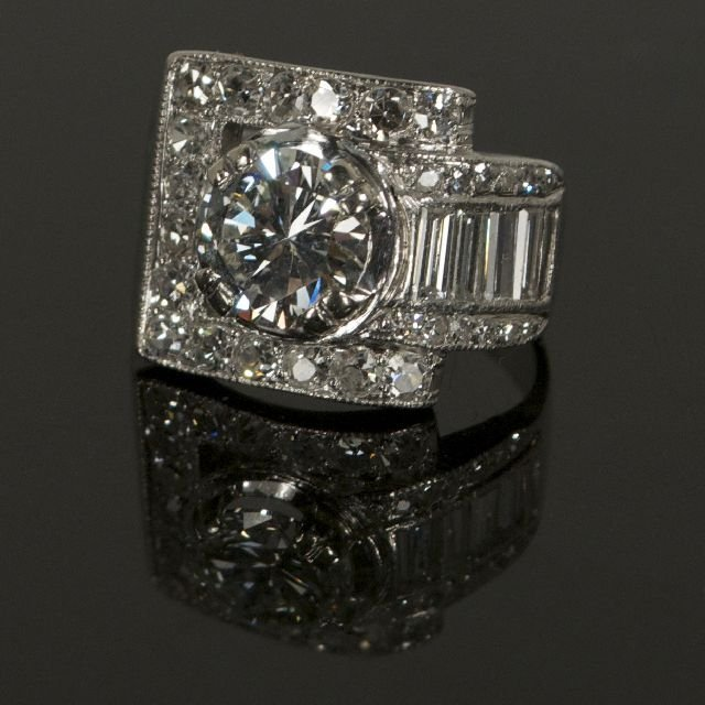 15A: A Platinum and Diamond Ring,