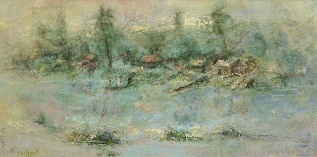 10: Jose Salazar (1926-2006) Landscape, Oil on canvas,