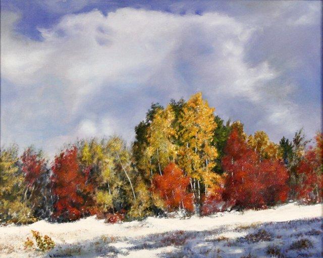 14: W. Alonzo Allen (20th Century) Winter Landscape, Oi