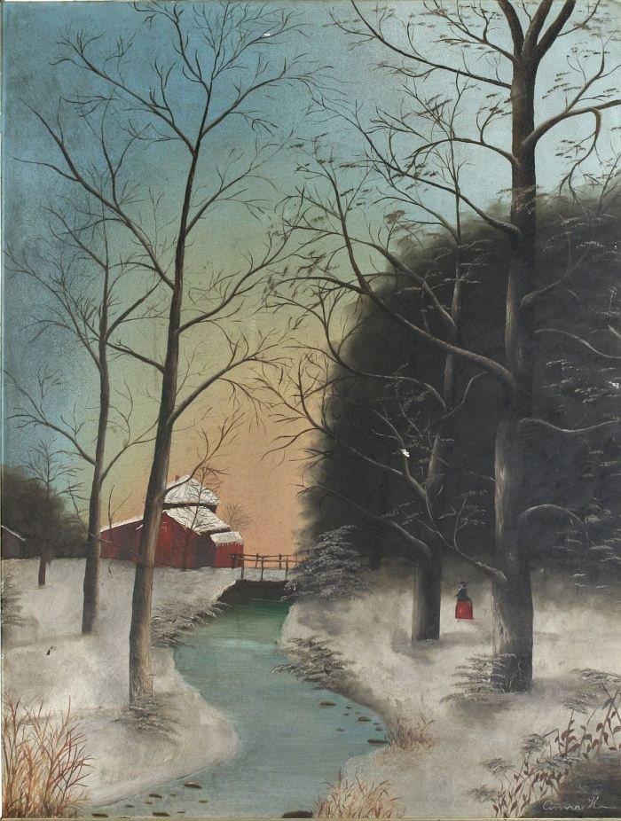15: Anna H (American, 19th Century) White River Scene w
