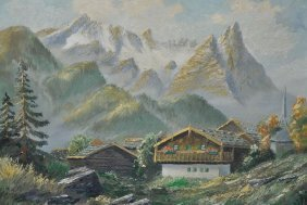 17: Artist Unknown (19th/20th Century) Mountain Landsca