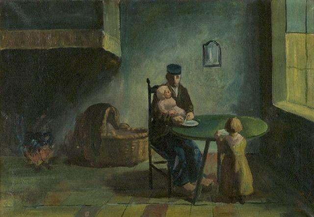 20: Hungarian School (19th Century) Interior Scene with