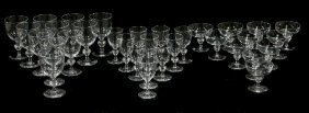 170: A Collection of Steuben Glass Stemware, 20th Centu