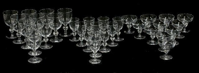 170: A Collection of Steuben Glass Stemware, 20th Centu