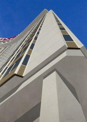 Roy Ahlgren (1927-2011) Las Vegas Hilton, Acrylic On