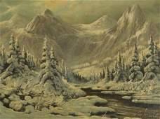 68: Laszlo Neogrady (1896-1962) A Mountain Winter Scene