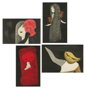 105: A Group of Four Works by Kaoru Kawano (1916-1965),