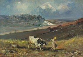 Giordano Giovanetti (1906-1973) Rural Landscape,