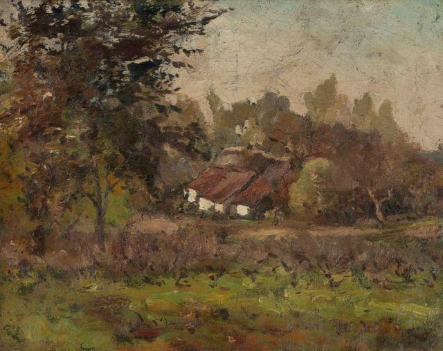 Guillaume Vogels (1836-1896) Landscape with Cottage,
