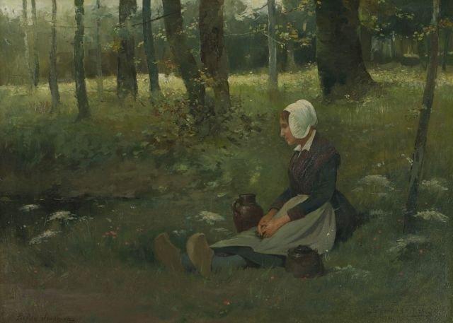 Floris Van Acker (1858-1947) Oil on canvas,