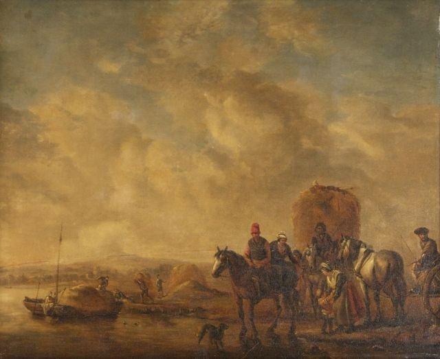 Johannes Lingelbach (1622-1674) River Landscape