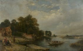 Henry John Boddington (1811-1865) Landscape with River