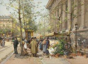 Eugene Galien-Laloue (1854-1941) Paris Street Market