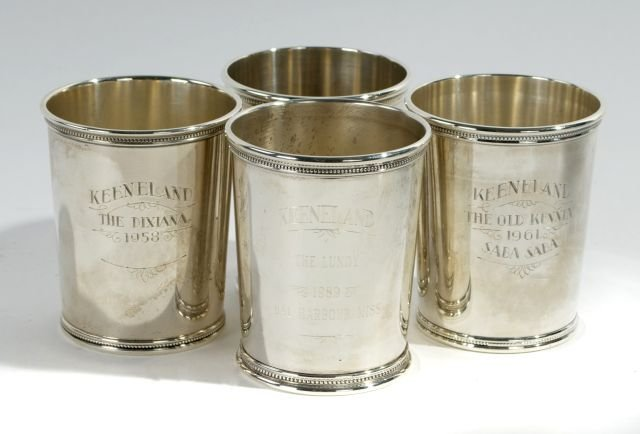 A Group of Four Sterling Silver Julep Cups,