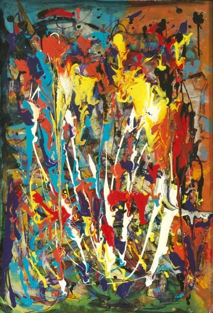 Hy T. Snell (b. 1919) Meltdown, Oil on canvas,