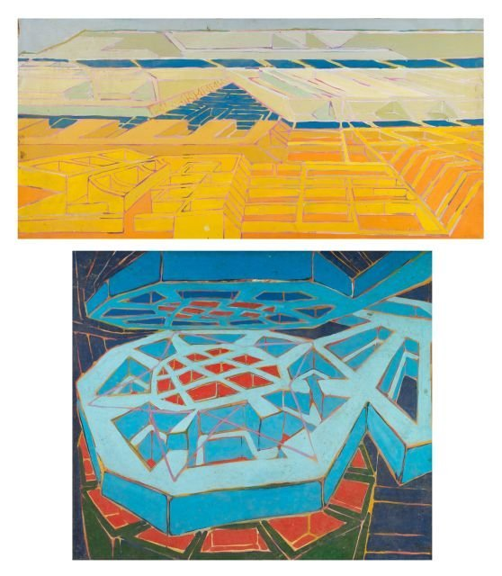 James W. Lawrence Jr. (1946-2012) Two Works, Oil on can