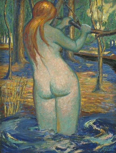 Richard Sedlon (1900-1992) Hortense, Oil on canvas,