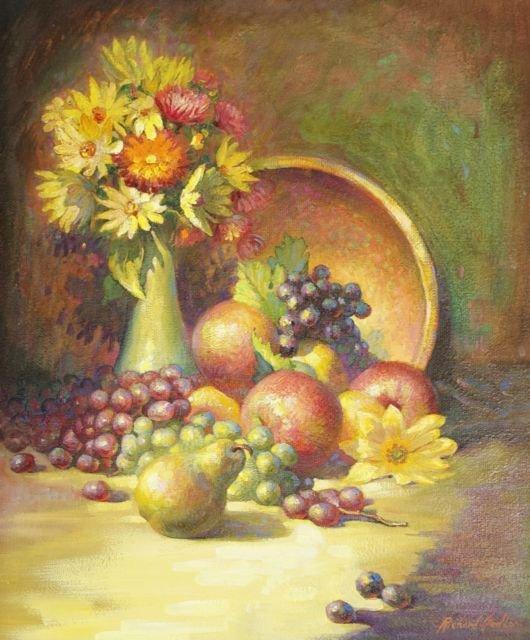 Richard Sedlon (1900-1992) Fruits of September, Oil on