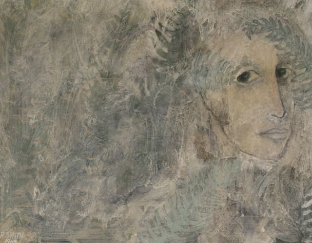 R. Smith (20th Century) Untitled, Mixed media on board,