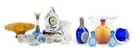 A Miscellaneous Collection of Crystal and Glass Decorat