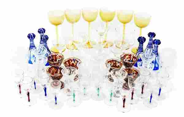 A Miscellaneous Collection of Colored and Clear Glass C