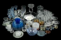 A Miscellaneous Collection of Colored and Clear Etched