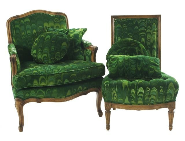A French Provincial Style Bergere, 20th Century.