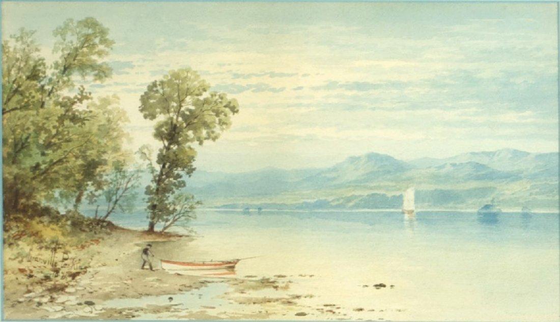 Granville Perkins (1830-1895) Boating on the Hudson Riv