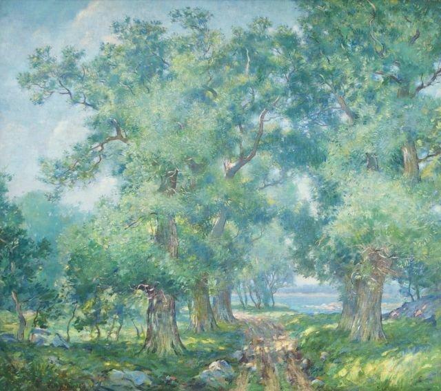 Carl J. Nordell (1885-1957) Summer Landscape, Oil on ca