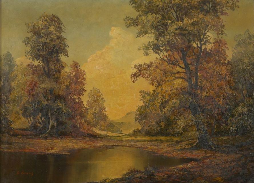 D. Adams (20th Century) Autumn Landscape, Oil on canvas