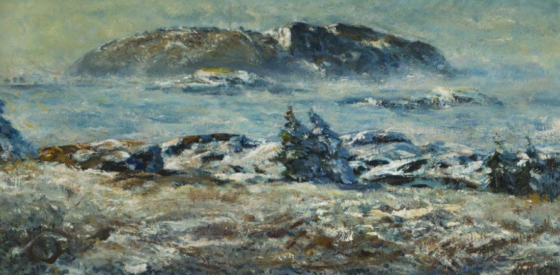 Andrew Winter (1892-1958) Down to Zero, Oil on canvas,
