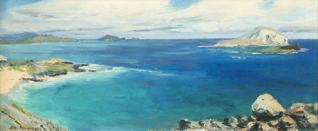 Joe Pimental (20h Century) Hawaiian Seascape, Oil on ca