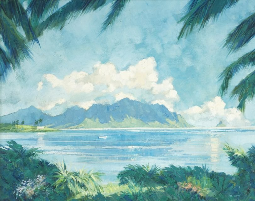 Alec Baird (20th Century) Tropical Seascape, Oil on can