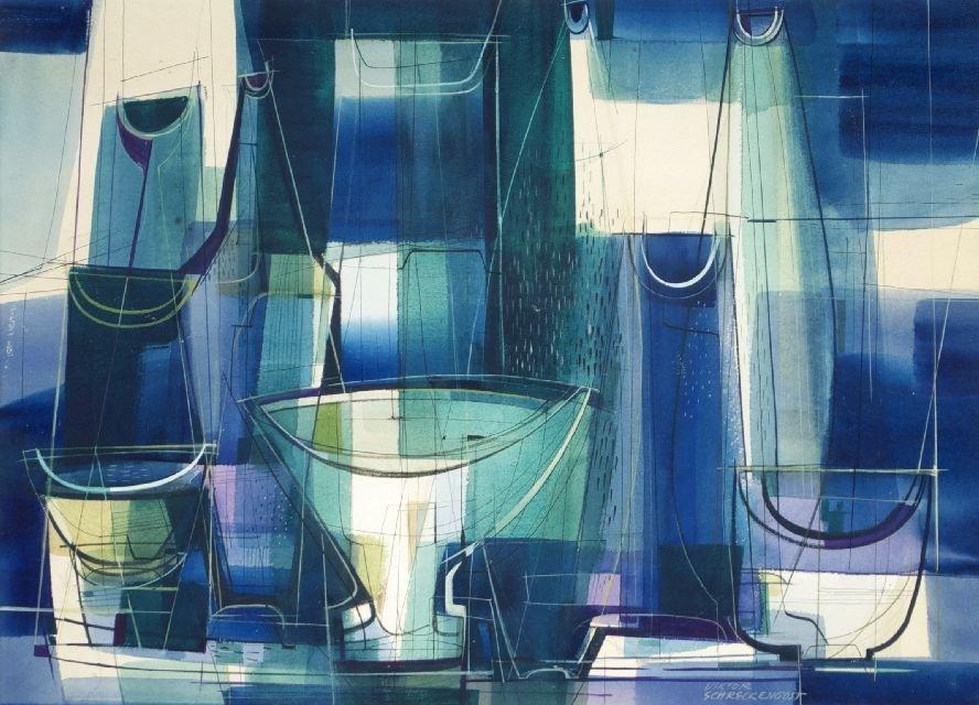 Viktor Schreckengost (1906-2008) Still Life, 1961, Wate