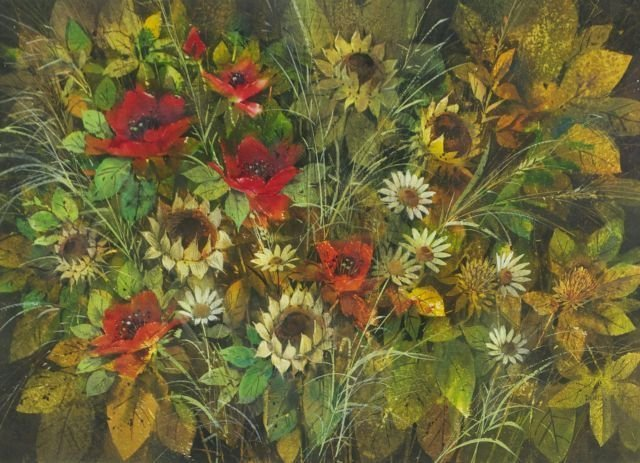 Paul St. Denis (American, 20th Century) Red Poppies, Da