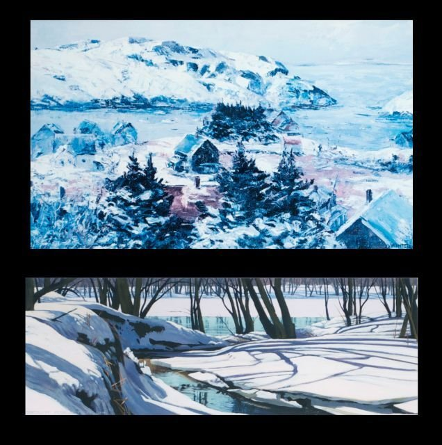 Scott Coulter (20th Century) Winter River Landscape, Ac