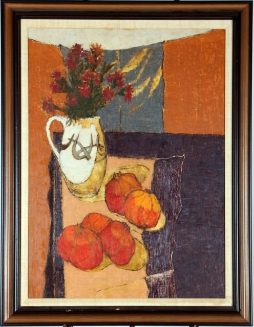 Davis Chiodo (b. 1931) Still Life with Pomegranates, Oi