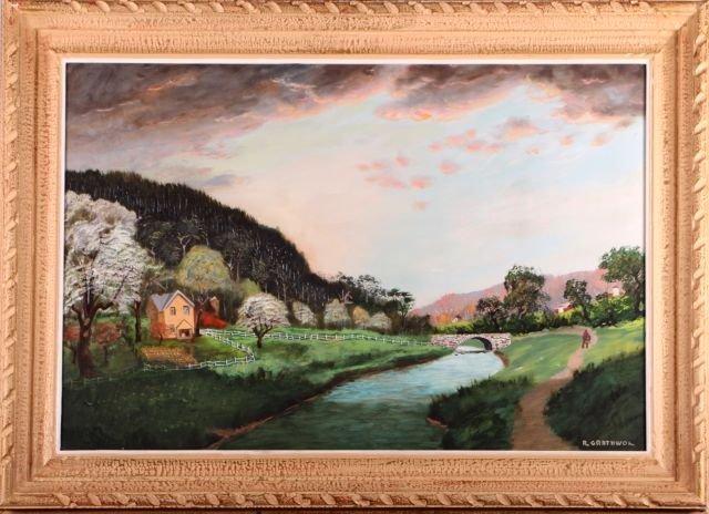 Ray Grathwol (1900-1992) Spring Landscape, Oil on board