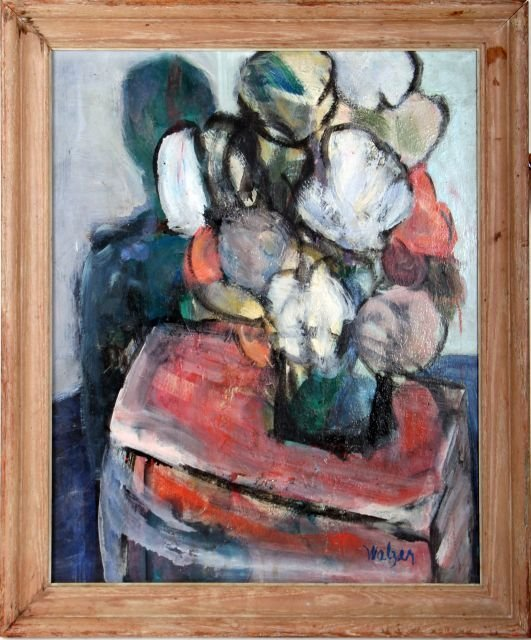 S. Walzer (20th Century) Waiting, Oil on board,