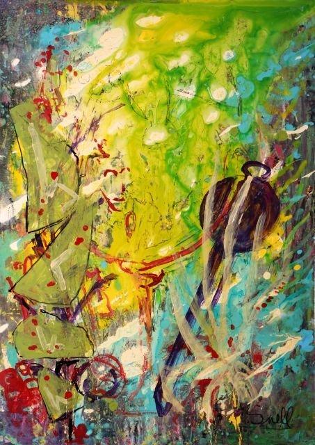Hy Snell (b. 1919) Focus, Acrylic on canvas,