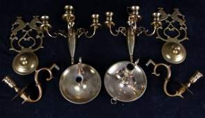 A Miscellaneous Collection of Brass Decorative Items,