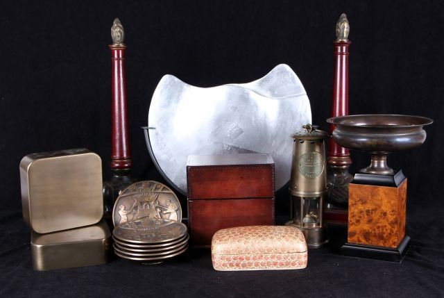 A Miscellaneous Collection of Brass and Wood Decorative