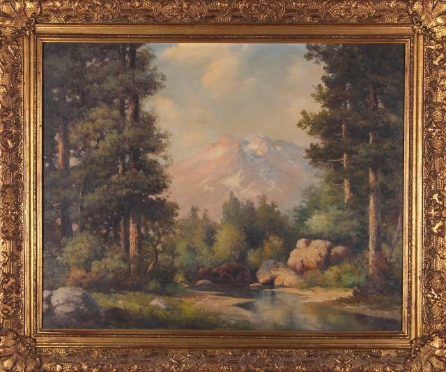 Robert William Wood (1889-1979) In the Rockies, Oil on