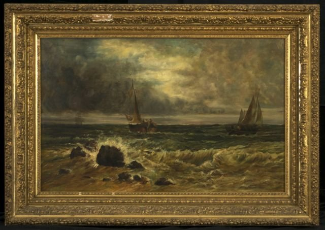 Artist Unknown (19th Century) Seascape with Two Boats,