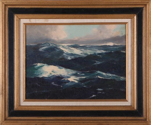 Artist Unknown (20th Century) Seascape, Oil on canvas,