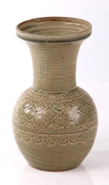 A Chinese Earthenware Celadon Vase, 19th/20th Century.