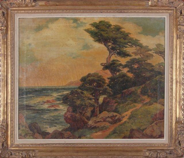 Frances Upson Young (1872-1974) California Coast, Carm