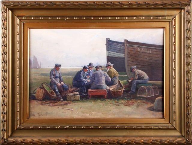 John P. Nicolson (1885-1913) Untitled, Watercolor on pa