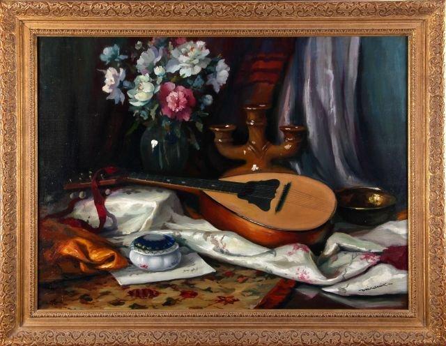 Ferenc Vardeak (1897-1971) Still Life, Oil on canvas,